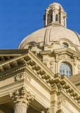 A photo of the dome of the Alberta Legislature Building in Edmonton.  The building was designed by Allan Merrick Jeffers and Richard Blakey in a Beaux-Arts style.  The Alberta Legislature Building was completed in 1913.  This photo © Capitolshots Photography/TwoFiftyFour Photos, LLC, ALL RIGHTS RESERVED.