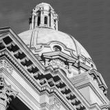 An image of the dome of the Alberta Legislature Building in Edmonton.  The building was designed by Allan Merrick Jeffers and Richard Blakey in a Beaux-Arts style.  The Alberta Legislature Building was completed in 1913.  This image © Capitolshots Photography/TwoFiftyFour Photos, LLC, ALL RIGHTS RESERVED.
