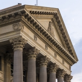 An image of the Alberta Legislature Building.  The building was completed in Edmonton in 1913.  The Beaux-Arts Alberta Legislature Building was designed by Allan Merrick Jeffers and Richard Blakey.  This image © Capitolshots Photography/TwoFiftyFour Photos, LLC, ALL RIGHTS RESERVED.