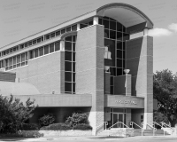 A photo of Hurst City Hall In Hurst, Texas.  Hurst City Hall was designed by Ron Hobbs and was constructed in 1997.  This photo © Capitolshots Photography/TwoFiftyFour Photos, LLC, ALL RIGHTS RESERVED.