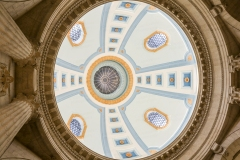 A photo inside the Manitoba Legislative Building rotunda.  Completed in Winnipeg in 1920, the stone Classical Revival structure was designed by Frank Worthington Simon and Henry Boddington III.  This photo © Capitolshots Photography/TwoFiftyFour Photos, LLC, ALL RIGHTS RESERVED.