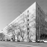 A photo of the San Francisco Hall Of Justice, officially the Thomas J. Cahill Hall Of Justice, in San Francisco, California.  The San Francisco courthouse, completed in 1960, not only is home to the criminal courts for the City and County of San Francisco but also is home for the San Francisco Police Department and Jail.  This photo © Capitolshots Photography/TwoFiftyFour Photos, LLC, ALL RIGHTS RESERVED.
