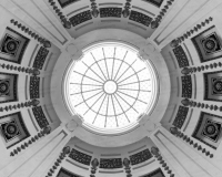 A photo inside the Saskatchewan Legislative Building rotunda.  Completed in Regina in 1912, the stone Beaux-Arts structure was designed by Edward and William Sutherland Maxwell.  The Saskatchewan Legislative Building has been designated a National Historic Site of Canada.  This photo © Capitolshots Photography/TwoFiftyFour Photos, LLC, ALL RIGHTS RESERVED.