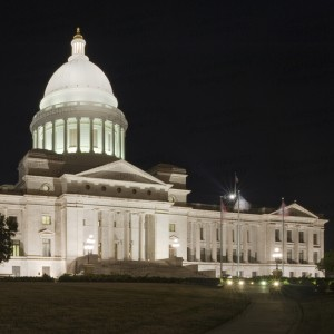 Arkansas State Capitol At Night