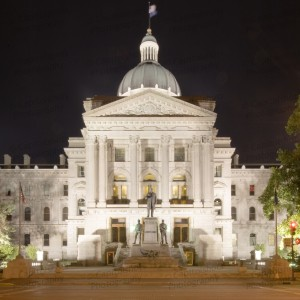 Indiana State House At Night