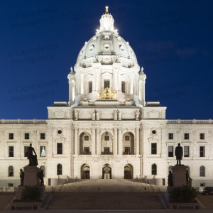 Minnesota State Capitol At Night